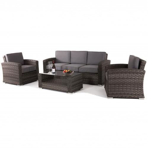 Victoria 3 Seat Sofa Set Grey
