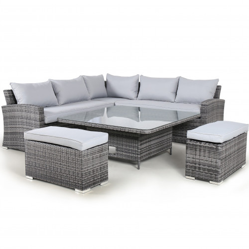 Kingston Corner Deluxe with Rising Table / Grey