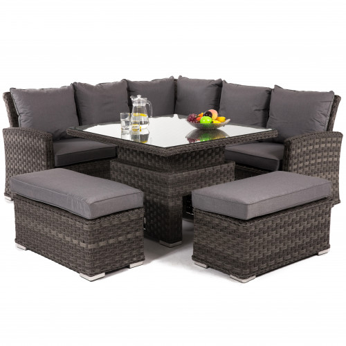 Victoria Square Corner Dining Set with Rising Table