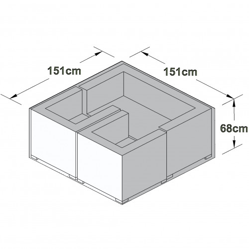 Outdoor Cover for 2 Seat Sofa Set