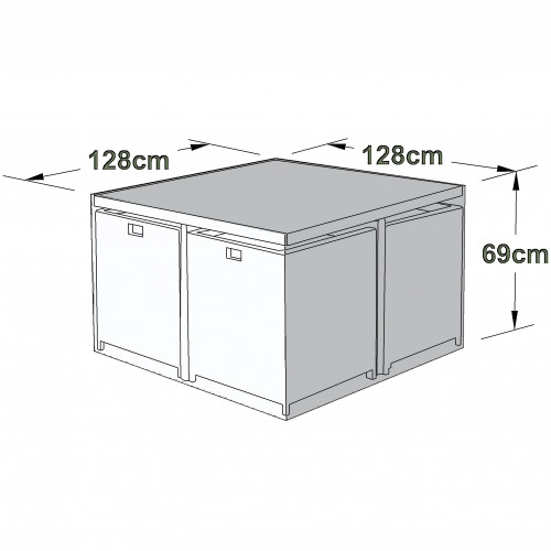 Outdoor Cover for 4 Seat Cube Set