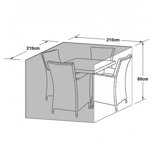 Outdoor Cover for 4 Seat Square Dining Set