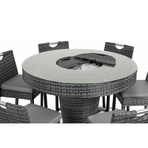 6 Seat Bar Set with Ice Bucket / Grey