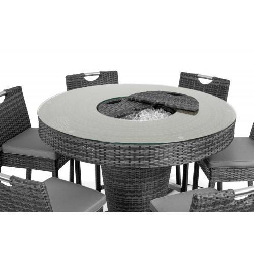 6 Seat Bar Set with Ice Bucket / Grey