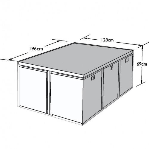 Outdoor Cover for 6 Seat Cube Set