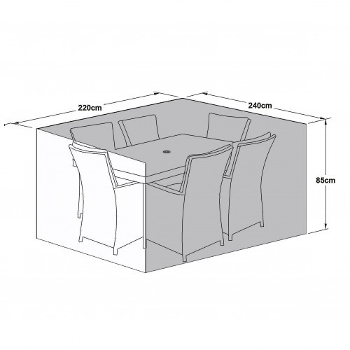 Outdoor Cover for 6 Seat Rect Dining Set