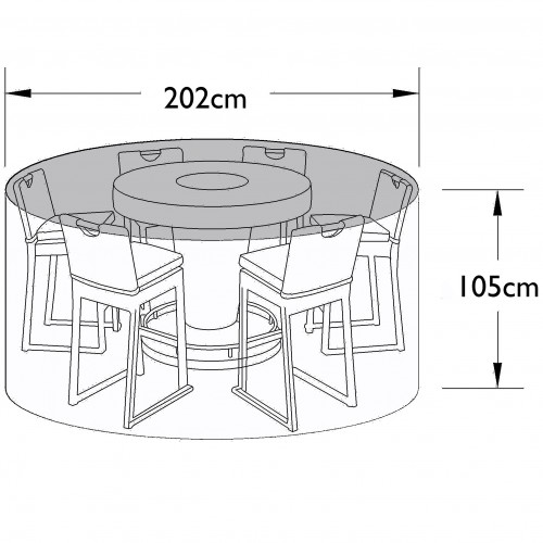 Outdoor Cover for 6 Seat Bar Set