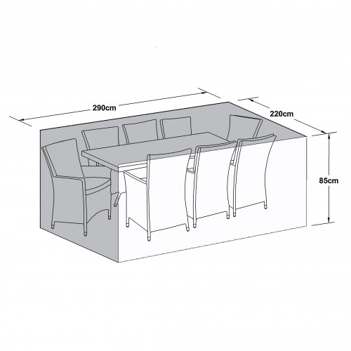 Outdoor Cover for 8 Seat Rect Dining Set