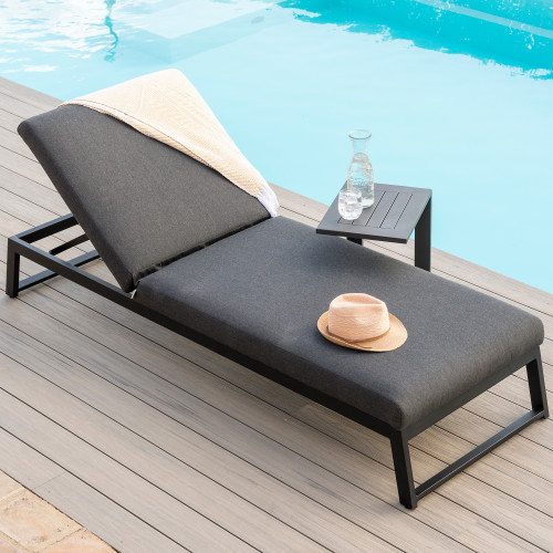 Allure Sunlounger / Charcoal