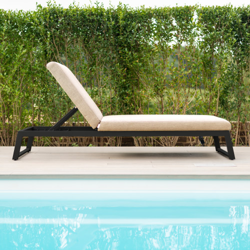 Allure Sunlounger / Taupe