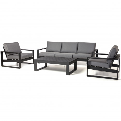 Amalfi 3 Seat Sofa Set / Black
