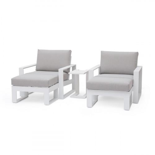 Amalfi 5pc Lounge Set / White