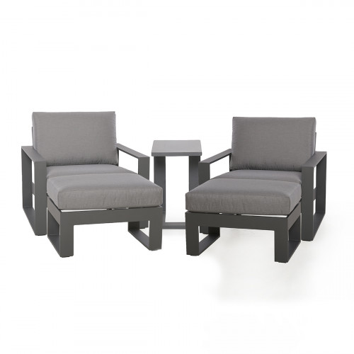 Amalfi 5pc Lounge Set / Grey