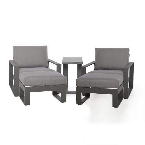Amalfi 5pc Lounge Set / Grey