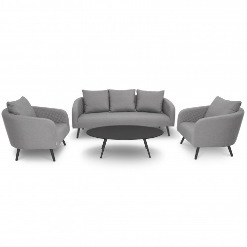 Ambition 3 Seat Sofa Set / Flanelle