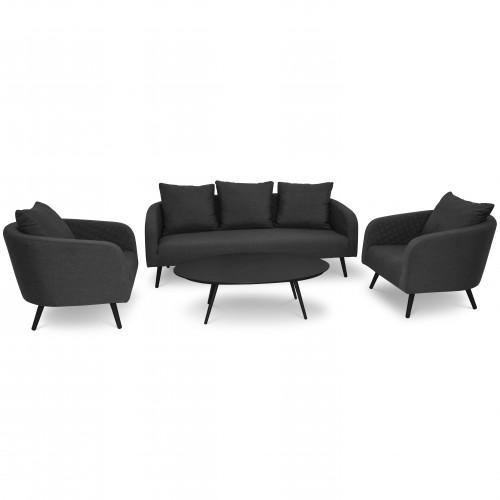 Ambition 3 Seat Sofa Set / Charcoal