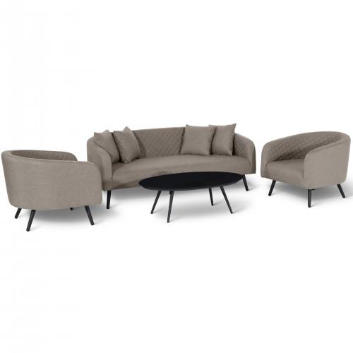 Ambition 3 Seat Sofa Set / Taupe