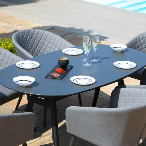 Ambition 6 Seat Oval Dining Set / Flanelle