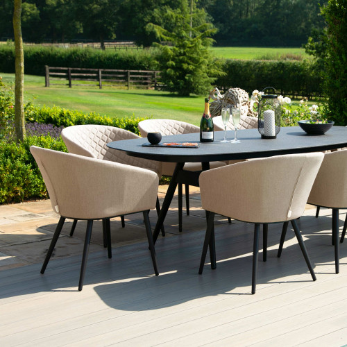 Ambition 8 Seat Oval Dining Set / Taupe
