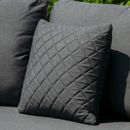 Fabric Scatter Cushion Quilted (Pack of 2) / Charcoal