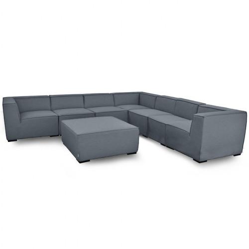 Apollo Large Corner Sofa Group / Flanelle