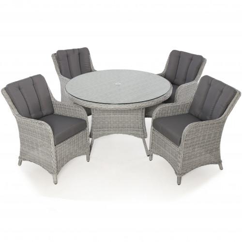 Ascot 4 Seat Round Dining Set