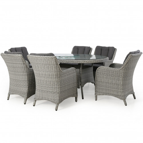 Ascot 6 Seat Oval Dining Set