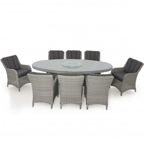 Ascot 8 Seat Oval Dining Set