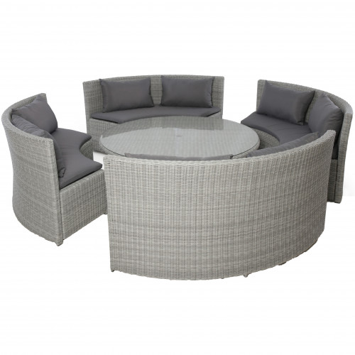 Ascot Round Sofa Dining Set with Rising Table