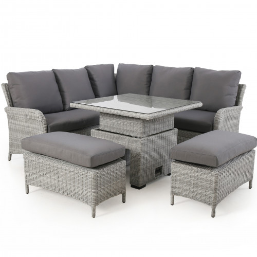 Ascot Square Corner Dining Set with Rising Table