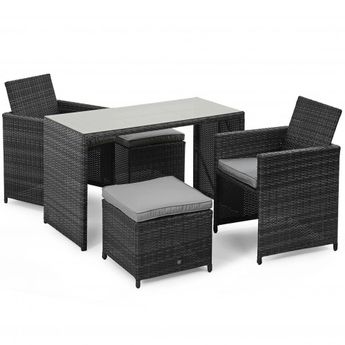 Cube Balcony Set / Grey