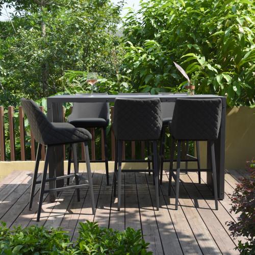 Regal 6 Seat Rectangular Bar Set / Charcoal