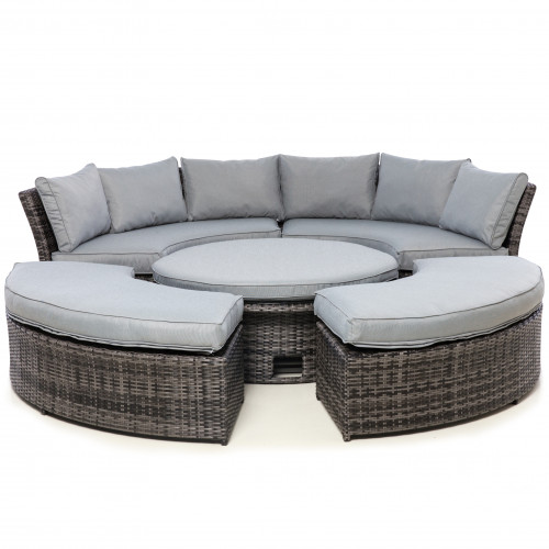 Chelsea Lifestyle Suite with Glass Table / Grey