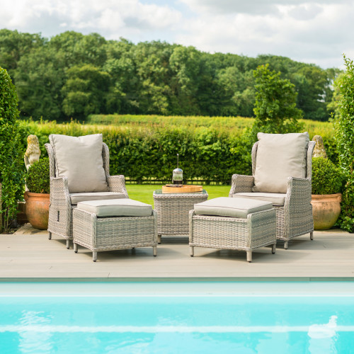 Cotswold Reclining 2 Seat Lounge Set with Footstools