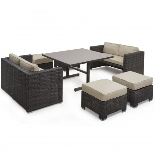 Cube Sofa Set / Brown