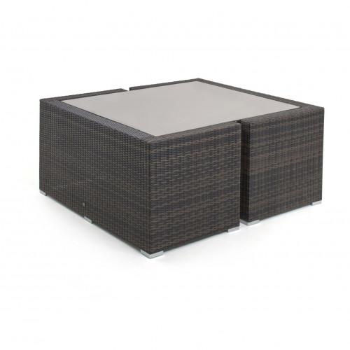 Cube Sofa Set / Brown