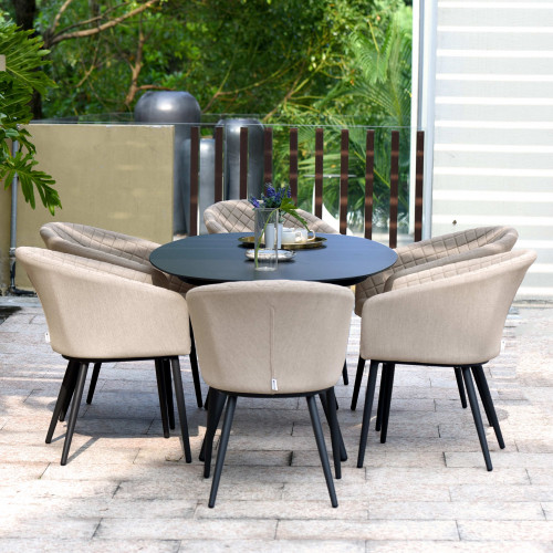 Ambition 6 Seat Oval Dining Set / Taupe