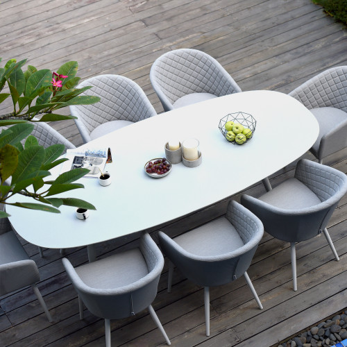Ambition 8 Seat Oval Dining Set / Lead Chine