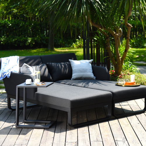 Unity Double Sunlounger / Charcoal