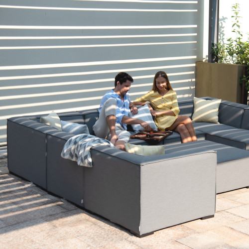 Apollo Corner Sofa Group / Flanelle