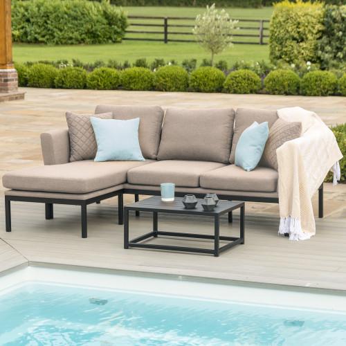 Pulse Chaise Sofa Set / Taupe