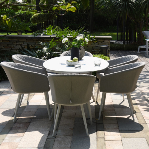 Ambition 6 Seat Oval Dining Set / Lead Chine
