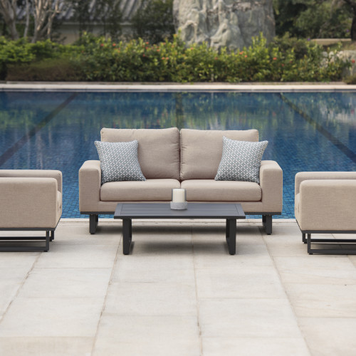 Ethos 2 Seat Sofa Set with Coffee Table / Taupe