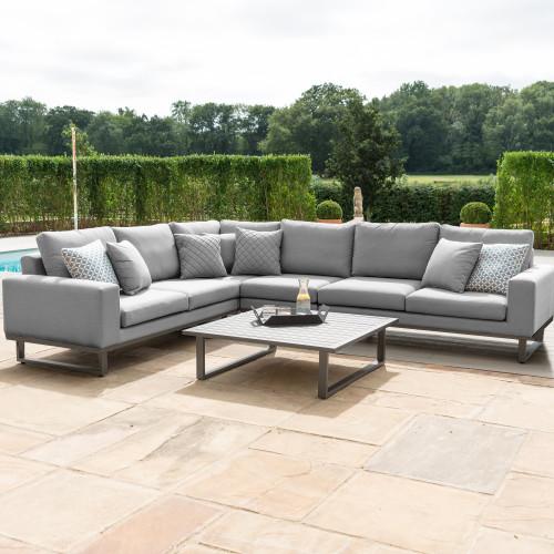 Ethos Large Corner Sofa Group / Flanelle