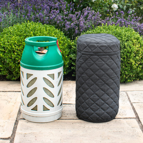 Fabric 10KG Gas Bottle Cover / Charcoal
