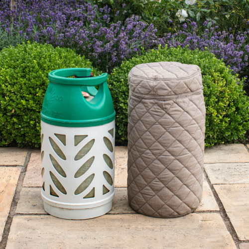 Fabric 10KG Gas Bottle Cover / Taupe