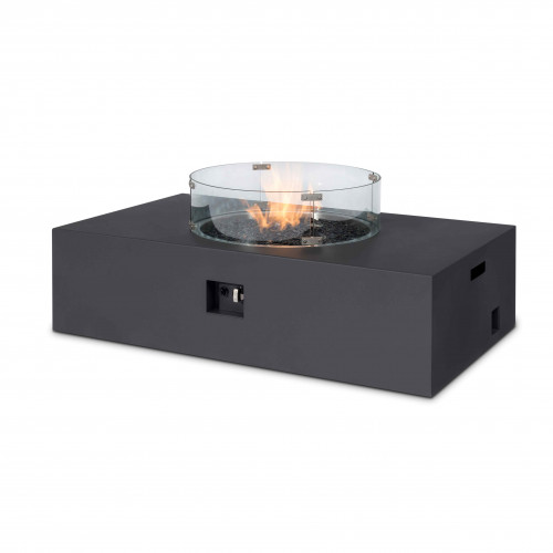 Fire Pit Coffee Table 127cm x 77cm Rect / Charcoal