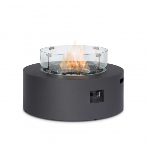Fire Pit Coffee Table 90cm Round / Charcoal