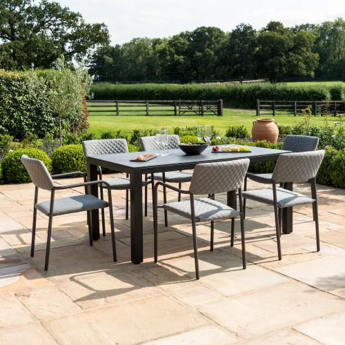 Bliss 6 Seat Rectangular Dining Set / Flanelle