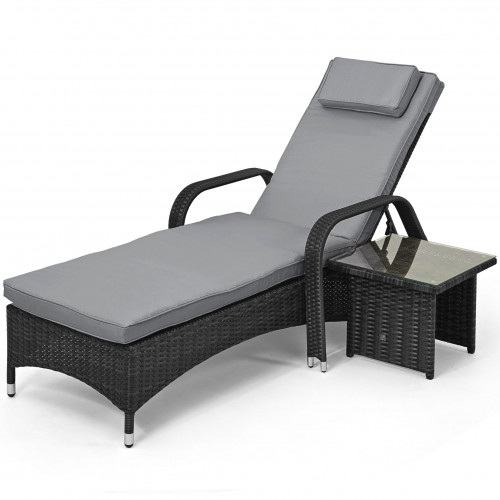 Florida Sunlounger Set / Grey
